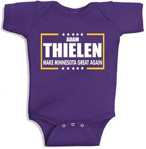 Purple Minnesota Thielen Make Minnesota Great Again Baby 1 Piece unisex men women t shirt