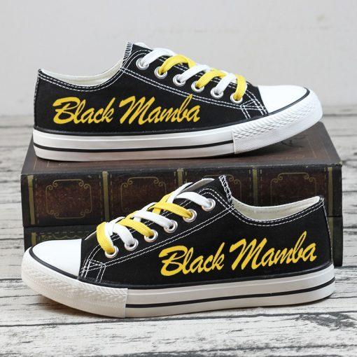RIP Kobe Bryant Black Mamba 24 Commemorate Canvas Shoes Sport