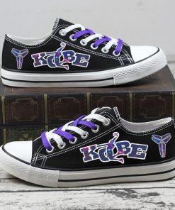 RIP Kobe Bryant Black Mamba 24 Commemorate Canvas Sneakers