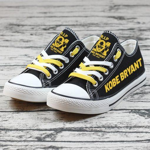 RIP Kobe Bryant Black Mamba 24 Commemorate Canvas Shoes