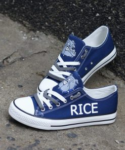 Rice Bulldogs Limited High School Students Low Top Canvas Sneakers