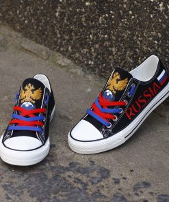 Russia National Team Low Top Canvas Sneakers