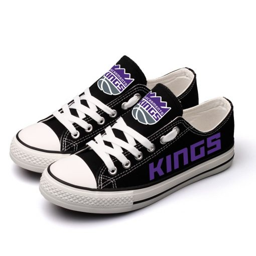 Sacramento Kings Low Top Canvas Sneakers