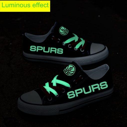 San Antonio Spurs Limited Luminous Low Top Canvas Sneakers