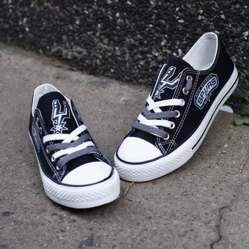 San Antonio Spurs Low Top Canvas Sneakers