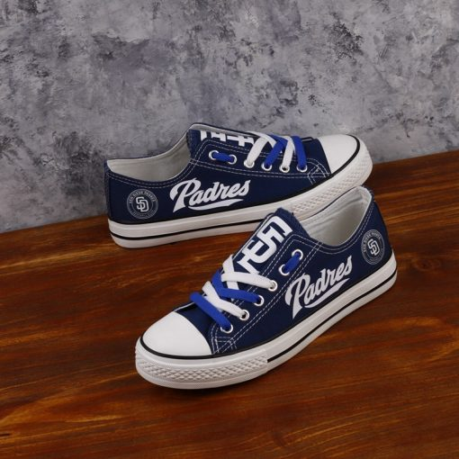 San Diego Padres Limited Low Top Canvas Sneakers