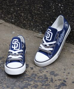 San Diego Padres Limited Low Top Canvas Shoes Sport