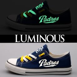 San Diego Padres Limited Luminous Low Top Canvas Sneakers