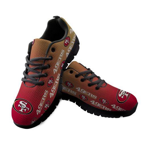 San Francisco 49ers Custom 3D Running Sneakers