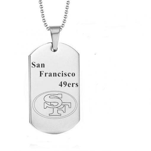 San Francisco 49ers Engraving Tungsten Necklace