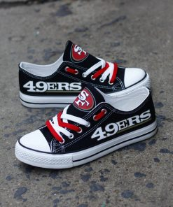 San Francisco 49ers Low Top Canvas Sneakers