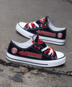 San Francisco 49ers Low Top Canvas Shoes Sport