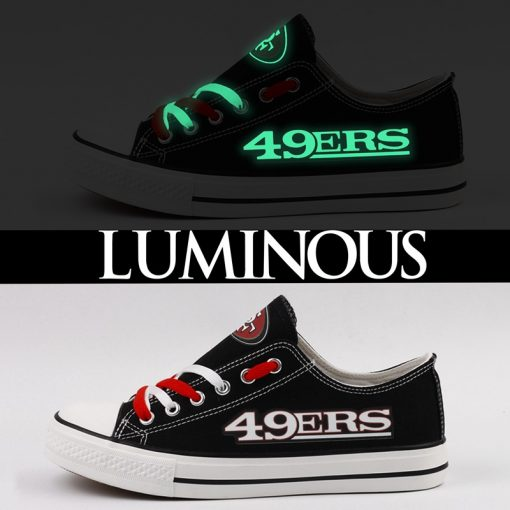San Francisco 49ers Limited Luminous Low Top Canvas Sneakers