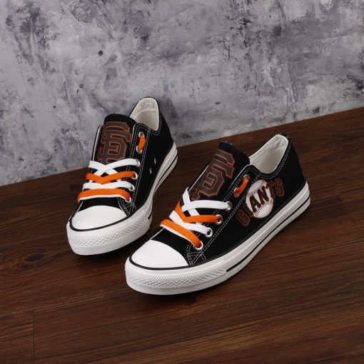 San Francisco Giants Low Top Canvas Sneakers