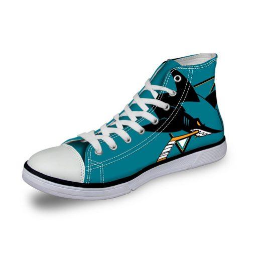 San Jose Sharks 3D Casual Canvas Shoes Sport