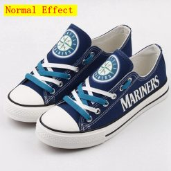 Seattle Mariners Limited Luminous Low Top Canvas Shoes Sport