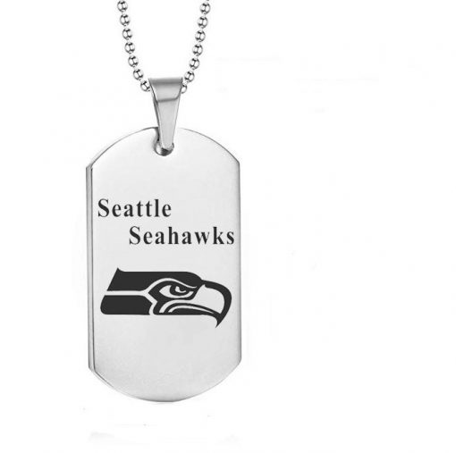 Seattle Seahawks Engraving Tungsten Necklace