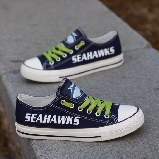 Seattle Seahawks Limited Low Top Canvas Sneakers