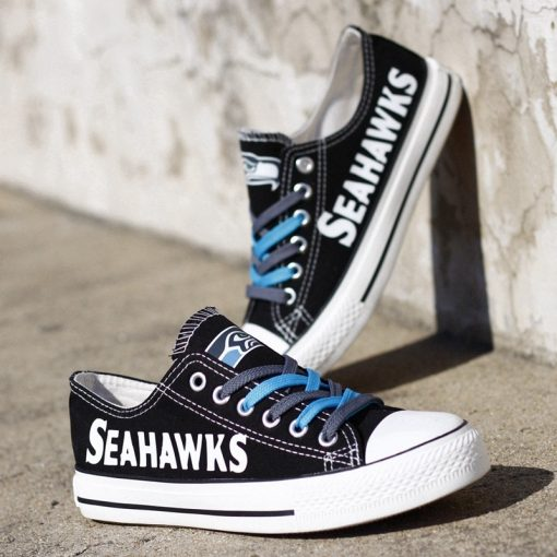 Seattle Seahawks Low Top Canvas Sneakers