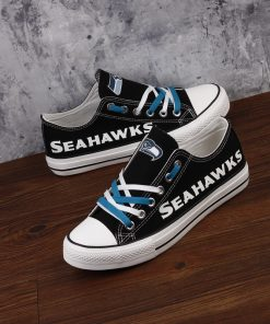 Seattle Seahawks Limited Luminous Low Top Canvas Sneakers