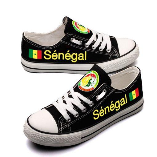 Senegal National Team Low Top Canvas Sneakers