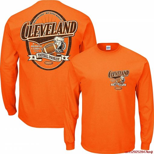 Smack FGHFG Cleveland Football Fans Cleveland a Drinking Town with a Football Problem Orange TFGHFG Shirt