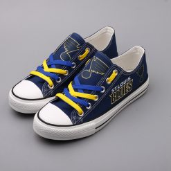 St. Louis Blues Limited Low Top Canvas Sneakers