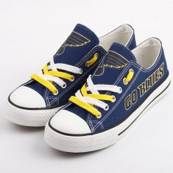 St. Louis Blues Low Top Canvas Sneakers