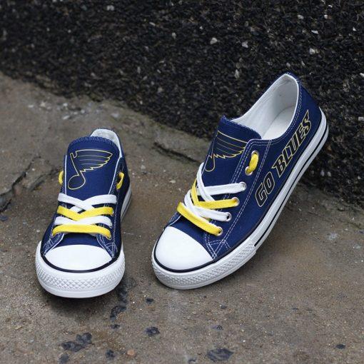 St. Louis Blues Low Top Canvas Sneakers
