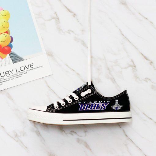 St. Louis Blues Low Top Canvas Shoes Sport