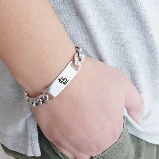 St. Louis Cardinals Men Fashion Wristlet Stainless Steel Bracelet
