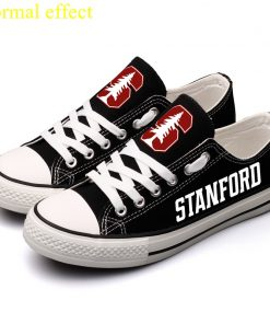 Stanford Cardinal Limited Luminous Low Top Canvas Sneakers