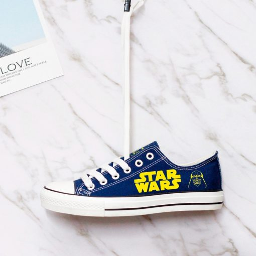 Star Wars Darth Vader Print Unisex Casual Canvas Sneakers
