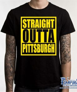 Steelers Shirt Straight Outta Pittsburgh T Shirt Football Penguins Pirates S9 Humorous Tee Shirt
