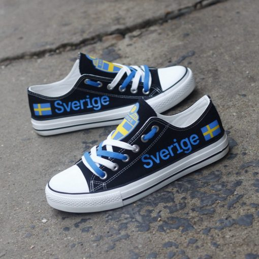 Sweden National Team Low Top Canvas Sneakers