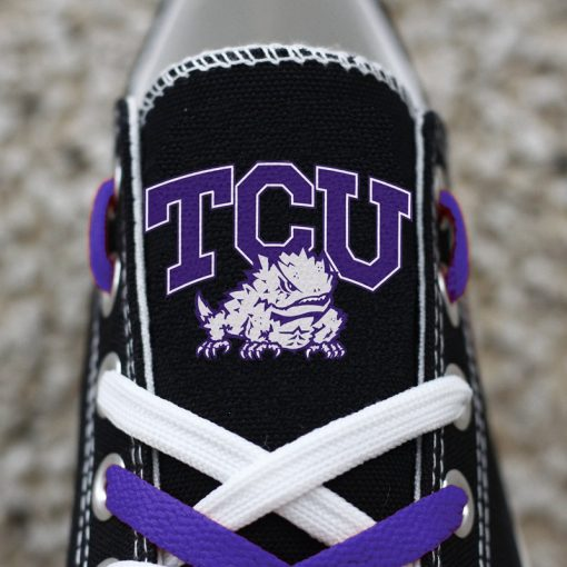 TCU Horned Frogs Limited Low Top Canvas Sneakers