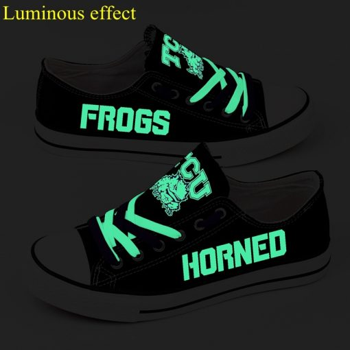 TCU Horned Frogs Limited Luminous Low Top Canvas Sneakers