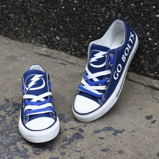Tampa Bay Lightning Limited Fans Low Top Canvas Shoes Sport