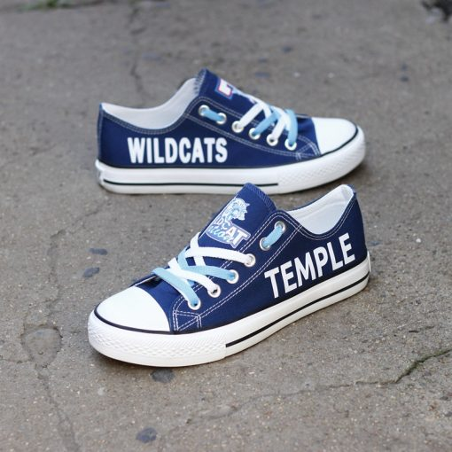 Temple Wildcats Limited High School Students Low Top Canvas Sneakers
