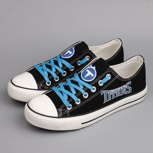 Tennessee Titans Limited Low Top Canvas Sneakers