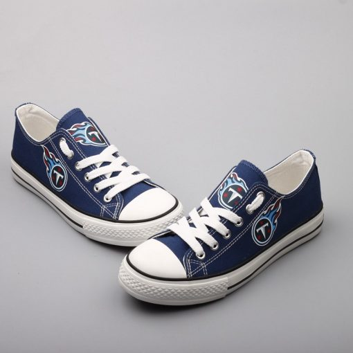 Tennessee Titans Low Top Canvas Sneakers