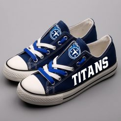 Tennessee Titans Limited Luminous Low Top Canvas Sneakers
