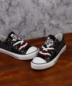 Texas A&M Aggies Limited Low Top Canvas Shoes Sport