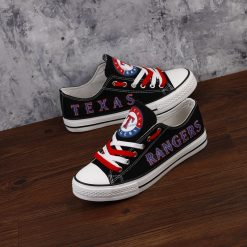 Texas Rangers Limited Fans Low Top Canvas Sneakers