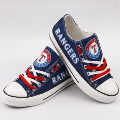 Texas Rangers Limited Luminous Low Top Canvas Sneakers