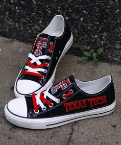 Texas Tech Red Raiders Limited Students Low Top Canvas Sneakers