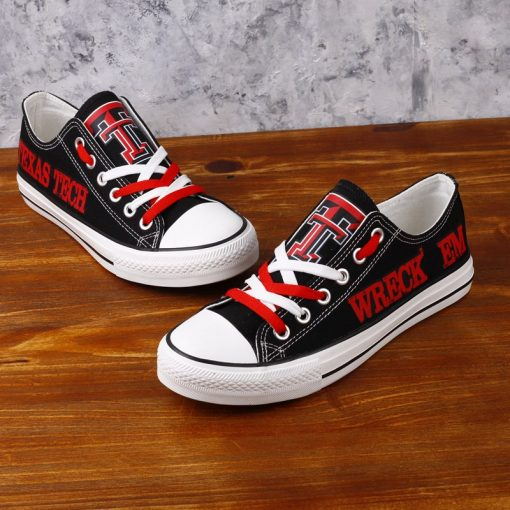 Texas Tech Red Raiders Low Top Canvas Sneakers
