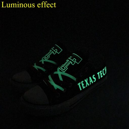 Texas Tech Red Raiders Limited Luminous Low Top Canvas Sneakers