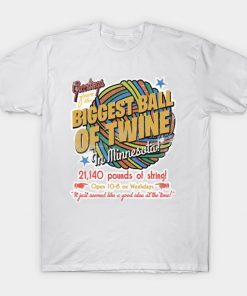 The Biggest Ball of Twine in Minnesota T Shirt Weird Al tshirt kids song spatula city