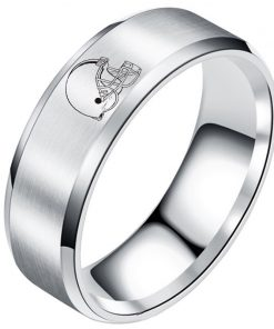The National Football LeagueTM NFL Cleveland BrownsTM Team Logo Titanium Steel Ring Fashion for Fans Metal 5